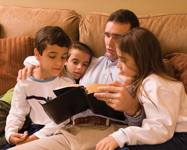 Mormon women learn the whys of the gospel with their families.