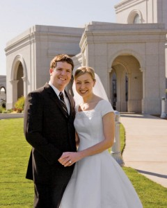 Mormon Marriage at Temple